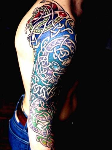 Colored Irish Design Tattoo