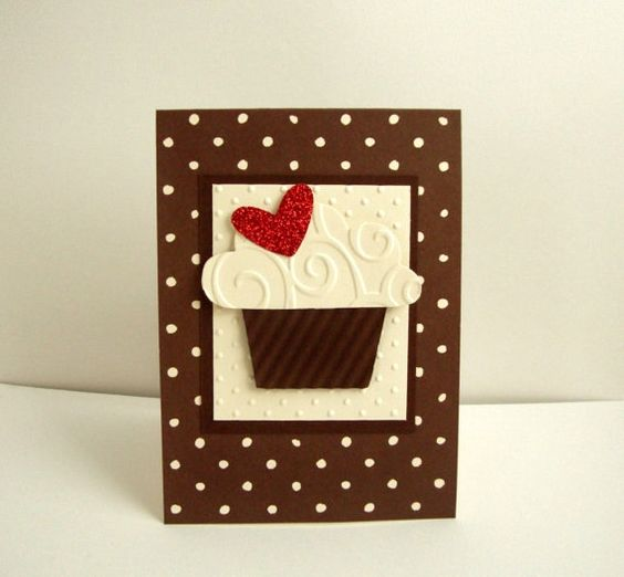 Cupcake cumpleaños, tarjeta Cupcake Chocolate cumpleaños tarjeta, feliz cumpleaños Cupcake, tarjeta de cumpleaños con Cupcake, Cupcake de Chocolate tarjeta,