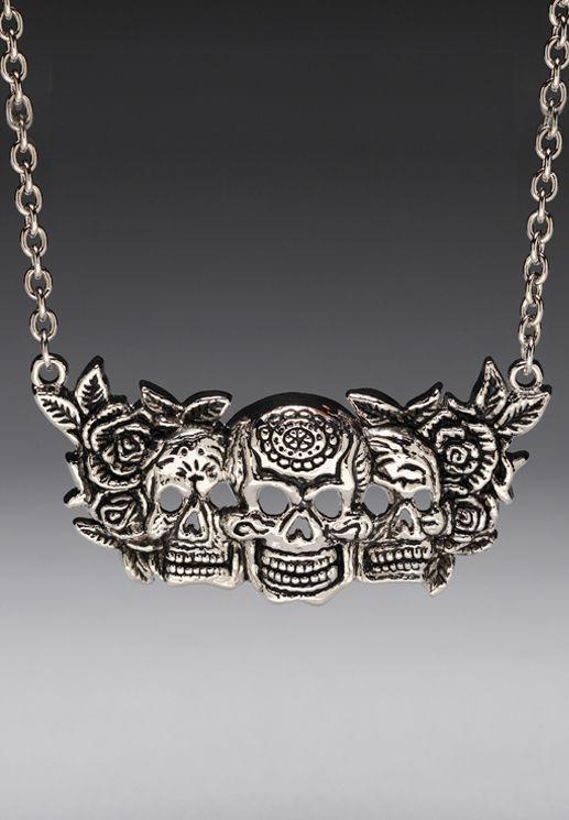 Sugar skulls necklace.