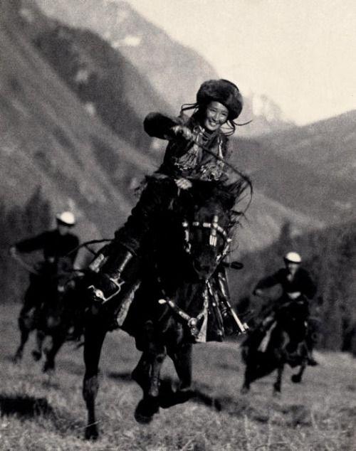Kyrgyzstan Horsewoman, 1936.: