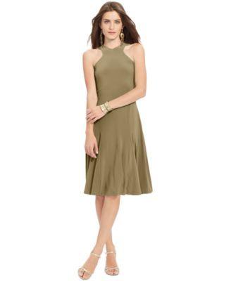 Lauren Ralph Lauren Sleeveless Halter-Neck Dress