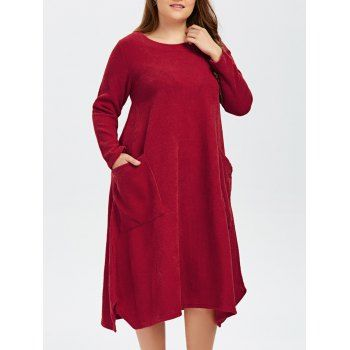 Plus Size Double Pockets Knitted Dress http://www.dresslily.com/twin-pockets-knitted-dress-product1838587.html?seid=Gf17860CO60M2n1jdbt6EvK9IS $40...how cute with boots & scarf