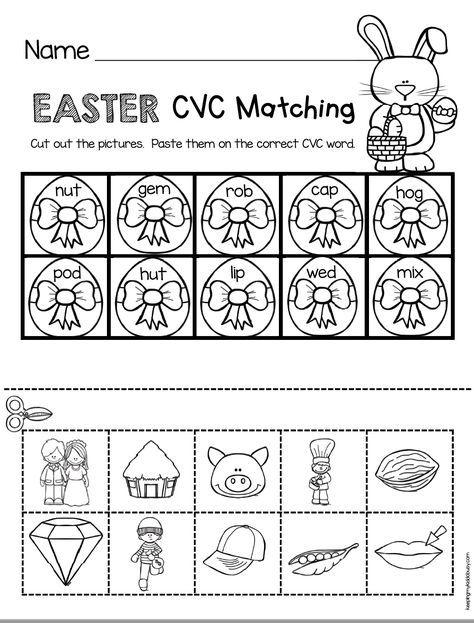Cvc Words Kindergarten Easter Worksheet Easter Bunny Activity Kindergarten Phoni Easter Kindergarten Kindergarten Easter Worksheets Kindergarten Freebies