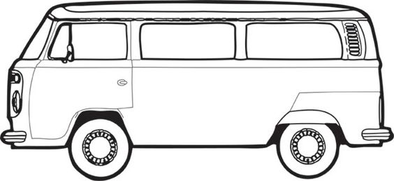 vw bus stencil vw bus paint off canvas summer. Black Bedroom Furniture Sets. Home Design Ideas