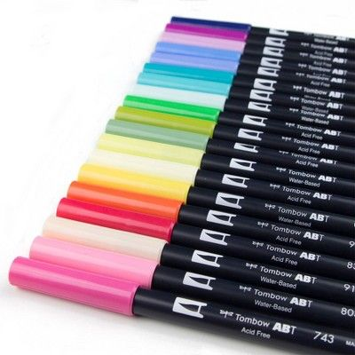 20ct Pen Set Dual Brush Floral Palette Tombow Brush Pen Pen