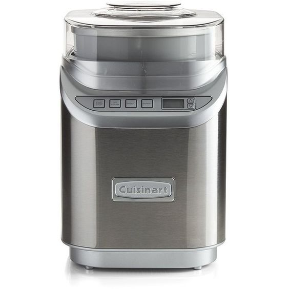Crate & Barrel Cuisinart ® Cool Creations Ice Cream Maker (€125) ❤ liked on Polyvore featuring home, kitchen & dining, small appliances and crate and barrel