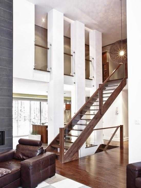 Modern Wooden Stairs For Your Project Stairs In Living Room Remodeling Mobile Homes Basement Remodeling