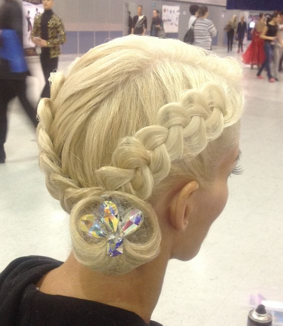 cool anime hairstyles : Braids with an asymmetrical low bun. Good hairstyle for latin and ...