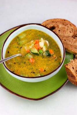A French classic for spring:  Soupe au Pistou.  Fresh, light, and full of flavor. #soup #pesto