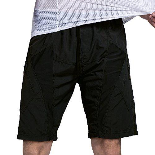 Santic Mens Cycling Shorts Loose-Fit Bike Bicycle MTB Mountain Bike Shorts