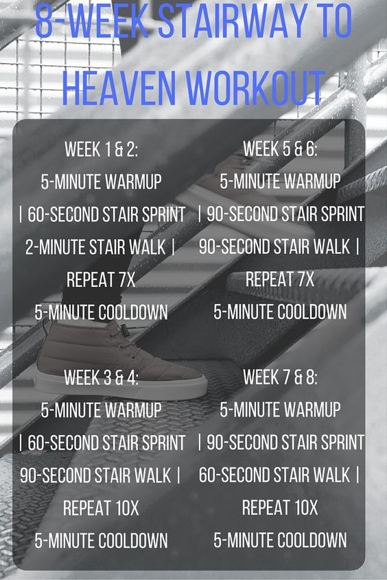 8-week Stairway to Heaven Workout
