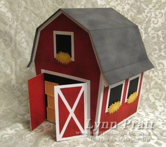 LYNN PRATT - Barn Box with Cow, Pig & Horse Cards