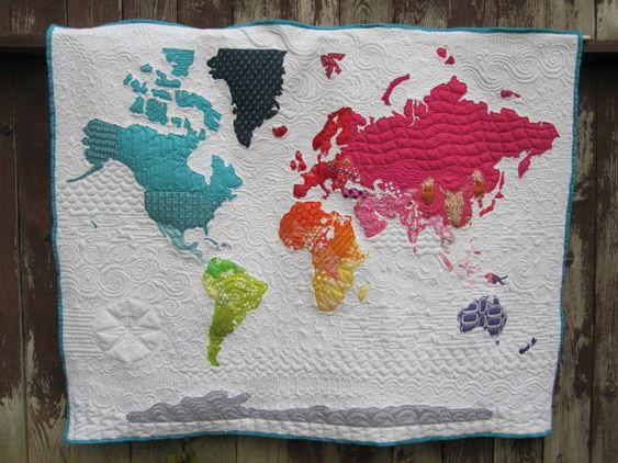 World Map Quilt Pattern