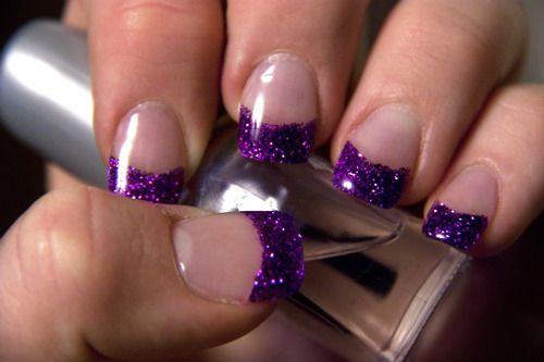 Deep purple, Purple sparkle and Acrylics on Pinterest