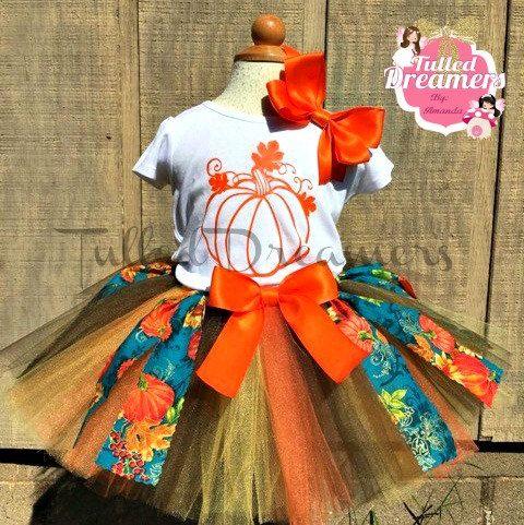 Fall Outfit-Pumpkin Tutu Outfit-Girls Pumpkin Harvest Tutu-Pumpkin Harvest Outfit-Fall Pageant Outfit-Pageant Tutu-Toddler Pumpkin Tutu-Tutu by TulledDreamers on Etsy