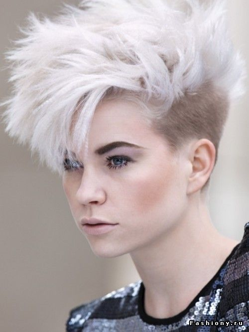white-blonde hair