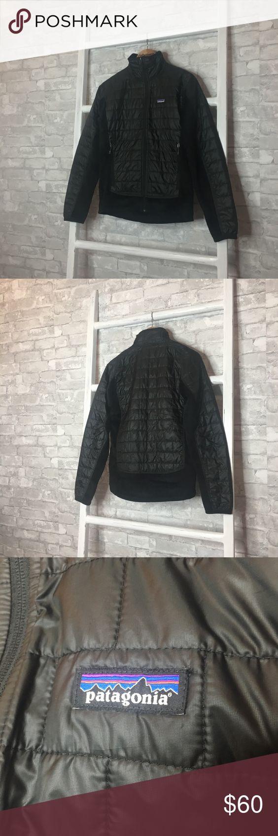 Patagonia Men S Puffer Jacket Fleece Paneling Xs Black Puffer Jacket Patagonia Mens Puffer Jackets [ 1692 x 564 Pixel ]