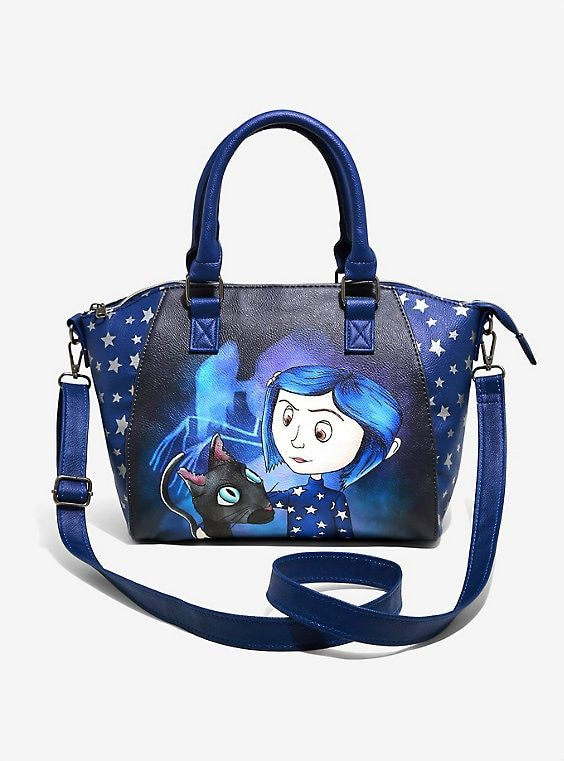 Loungefly Coraline Stars Satchel Bag Purses Crossbody Womens Leather Tote Bags