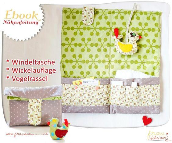 Nähanleitungen Baby - Windeltasche mit integrierter Wickelauflage Ebook - ein Designerstück von frauscheinerebooks bei DaWanda