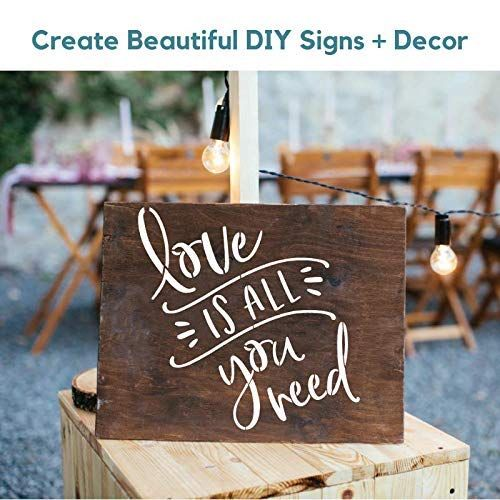 Sign Stencils For Painting On Wood And More Create Beautiful Wood Signs With These Word Stencils Set Of 2 Reu Diy Wood Signs Stencil Decor Stencil Painting
