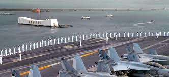 USS Ronald Reagan salute to USS Arizona Memorial, November 17, 2008.