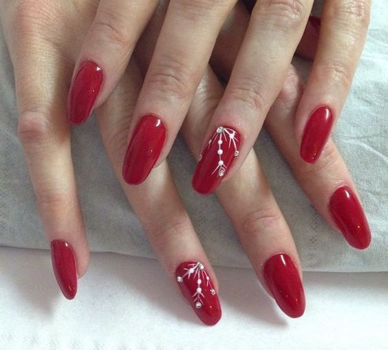 60 Nail Art Design In Red Color Ideas 54 Red Nail Art Red Nail