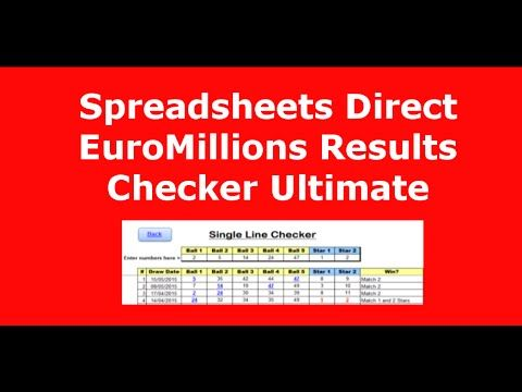 Lotto Checker Spreadsheets For UK, Ireland & EuroMillions.