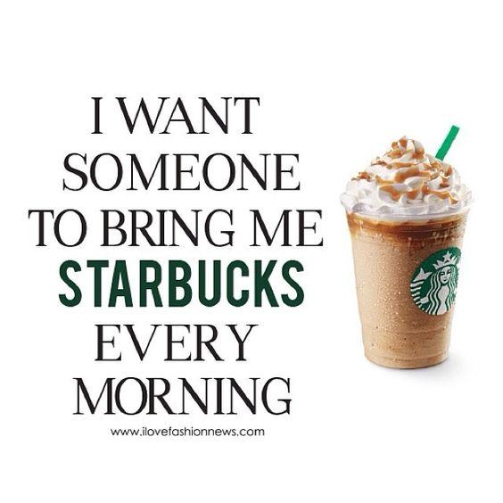 Starbucks, Mornings and I want on Pinterest