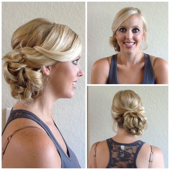 Low Loose Bun Hairstyles For Weddings: Wedding Hair/ Loose Side Bun// Exquisite Reflections