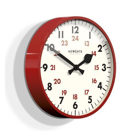 Red Home Accents Lights The Putney Wall Clock Red Redhome Accentslights Red Wall Clock Wall Clock Clock