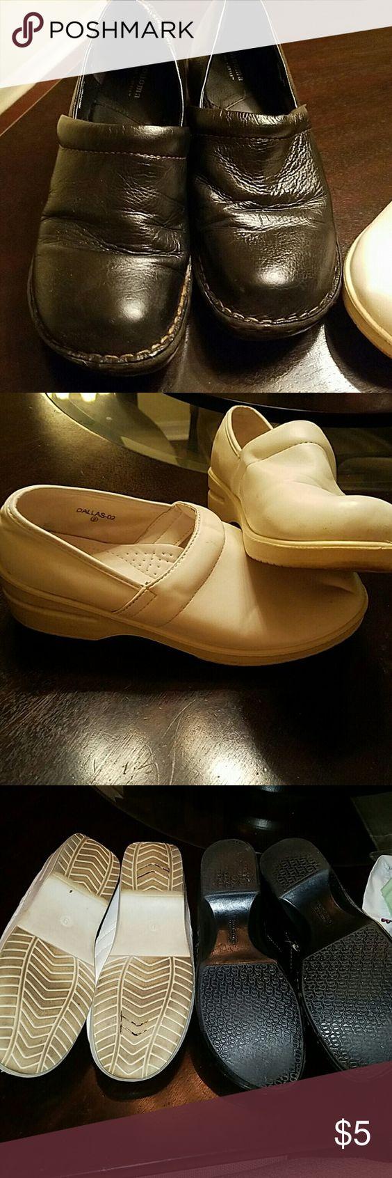 Bundle nurse shoes both used Black pair Sonoma  white pair Refresh both size 9 Shoes Mules & Clogs