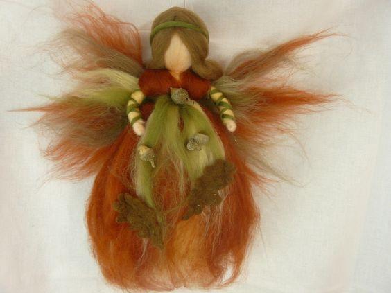 Deko-Objekte - Eichenfee, Waldfee, H - ein Designerstück von Feenwinkel bei DaWanda