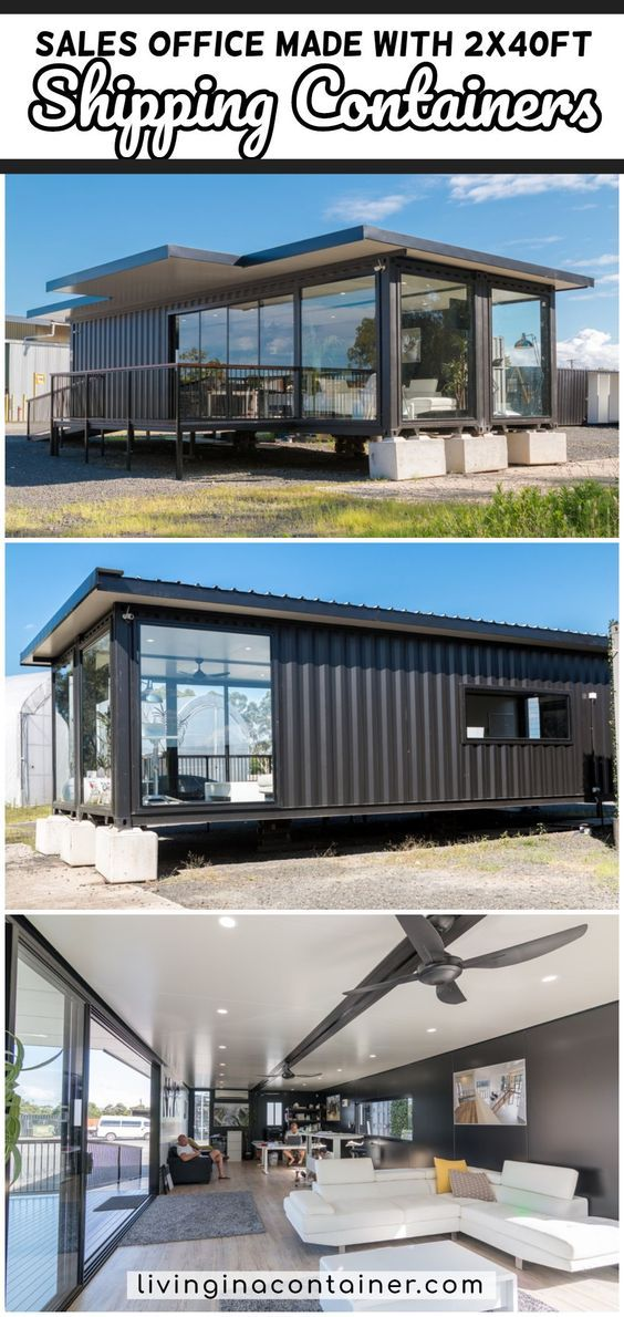 Based On X2 40ft Shippings Containers Large Deck And Ramp With Insulated Roofing Panels Over Contai In 2020 Container House 40ft Shipping Container Shipping Container