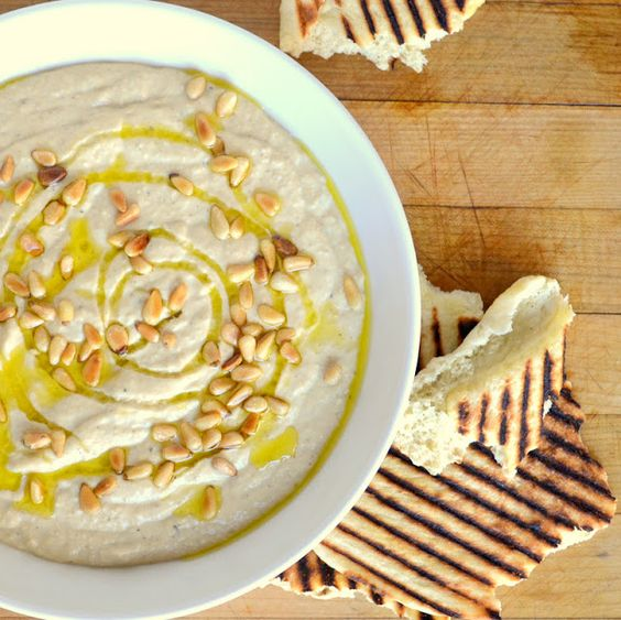 The view from Great Island: Hummus and Laffa Bread - there's a link in this pin on how to remove skins from garbanzo beans