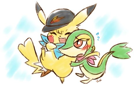 Pikachu and Snivy