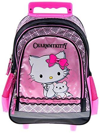 Maxi & Mini - Charm my Kitty zaino da scuola trolley, scuola, Hello Kitty