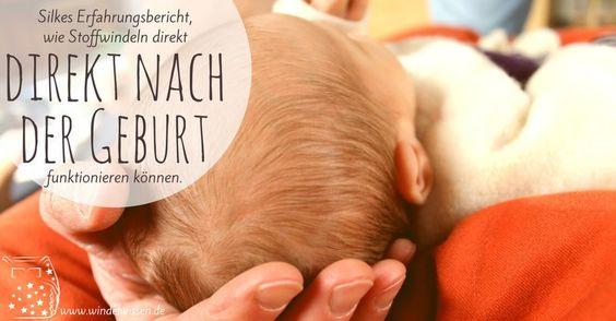 tips for cloth nappies on a newborn (in German) incl pic of hu-da(newborn size) __Stoffwindeln für Neugeborene direkt nach der Geburt