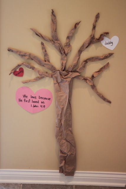 Valentine Day Tree  We love because He first loved us.  - 1 John 4:19
