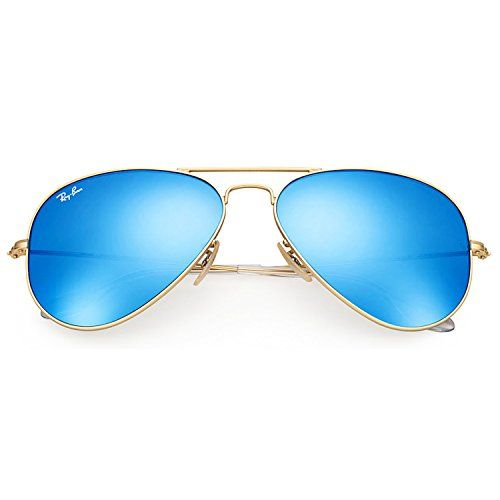 ray ban rb3025 iconic aviator sunglasses black  ray ban rb3025 112/17 aviator sunglasses matte gold / blue mirror lens 58mm