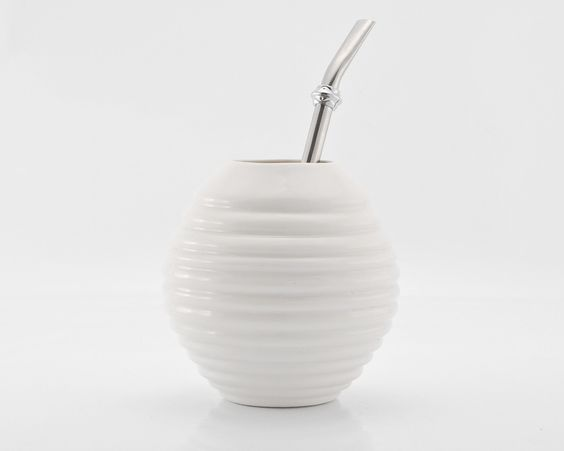 White Porcelain Gourd for Yerba Mate Enthusiasts by KinaCeramicDesign on Etsy https://www.etsy.com/listing/184760071/white-porcelain-gourd-for-yerba-mate