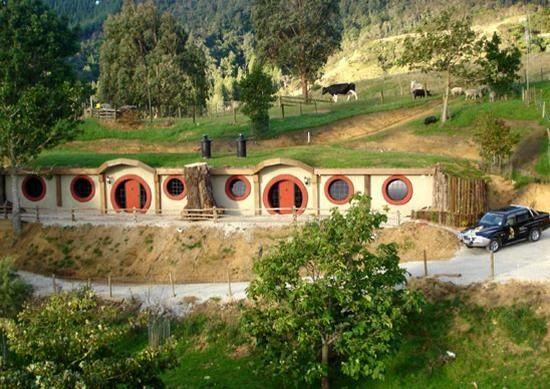 Who knows how J.R.R. Tolkien would have designed a motel but the Hobbit Motel in New Zealand seems to have real fantasy appeal. The strange little building with porthole-style windows and round doors is built into the side of a hill in Waitomo, a region on the North Island known for its caves and waterfalls. Created with the Lord of the Rings trilogy it is at least three times bigger than hobbit size to accommodate its regular human sized guests. The motel offers two self-contained units…