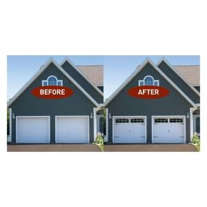Faux window home depot and crowns on pinterest for Home hardware garages