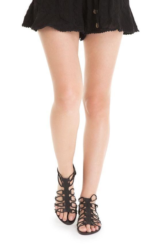 Sandália rasteira étnica - Calçados | Dress to