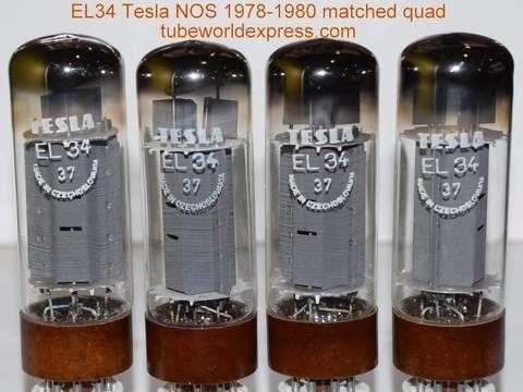 1 El34 Tesla Quad El34 Tesla Czechoslovakia Nos 1978 1980 85 85 86 5 86 5ma Electronice
