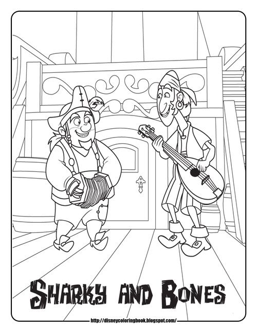 Jnp Sharky And Bones Jpg Pirate Coloring Pages Disney Coloring