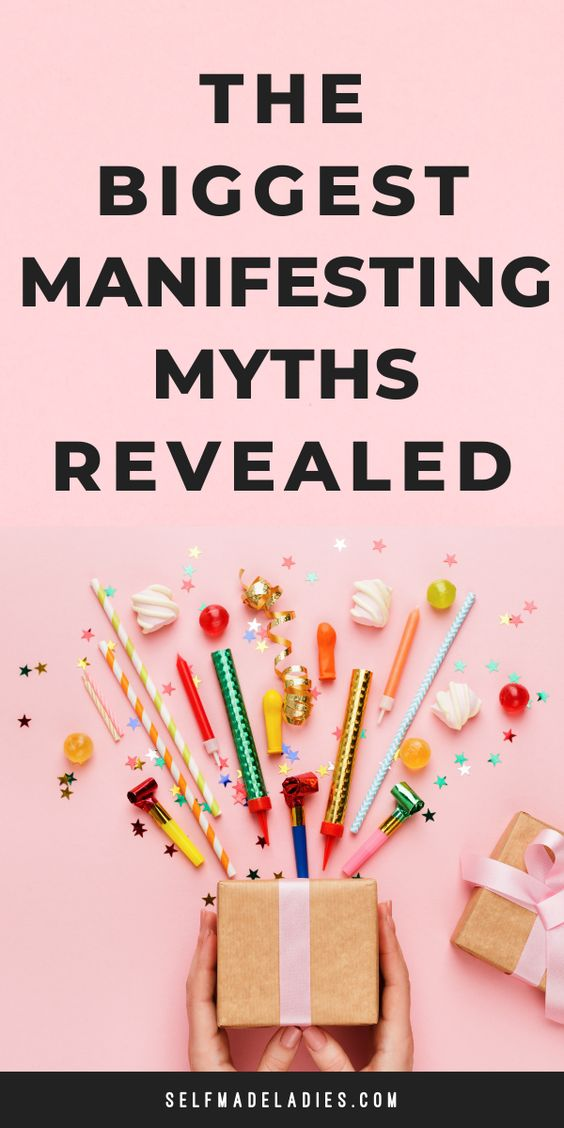 Pinterest Graphic with Title 11 Wrong Beliefs About Manifesting - selfmadeladies.com
