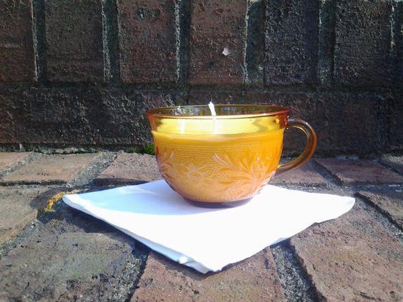 Vintage Orange Scented Amber Indiana by BlueHenCandleCompany, $16.00