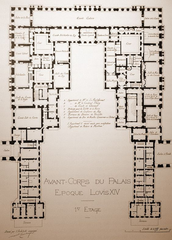 Louis xiv the o 39 jays and chateaus on pinterest for Versailles house floor plan