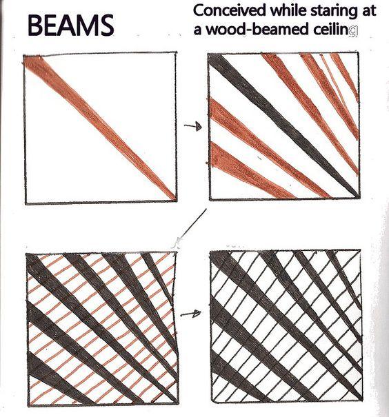 Life Imitates Art For Sandra Day >> Beams by molossus, aka Life Imitates Doodles aka Sandra Strait | Zentangle: Grid Influenced ...