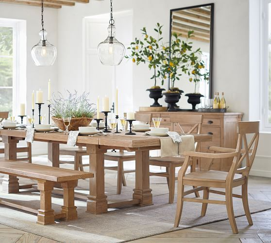 Benchwright Extending Dining Table Seadrift In 2020 With Images Wood Dining Room Dining Table Dining Room Table